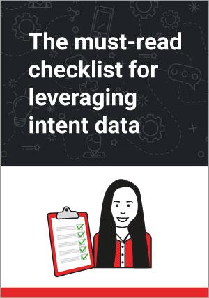 Intent Data Utilization Checklist