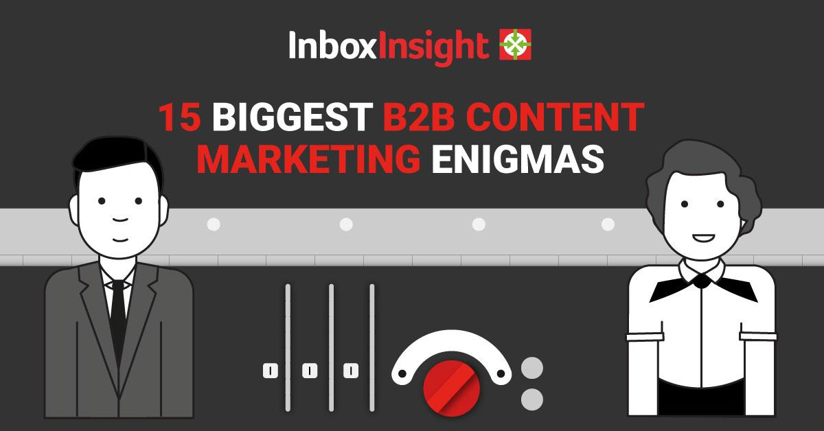 15 content marketing enigmas