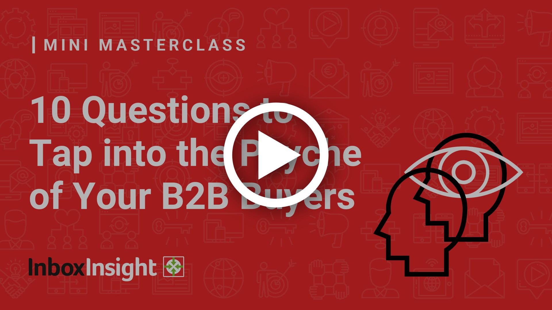 Mini Masterclass 10 questions video